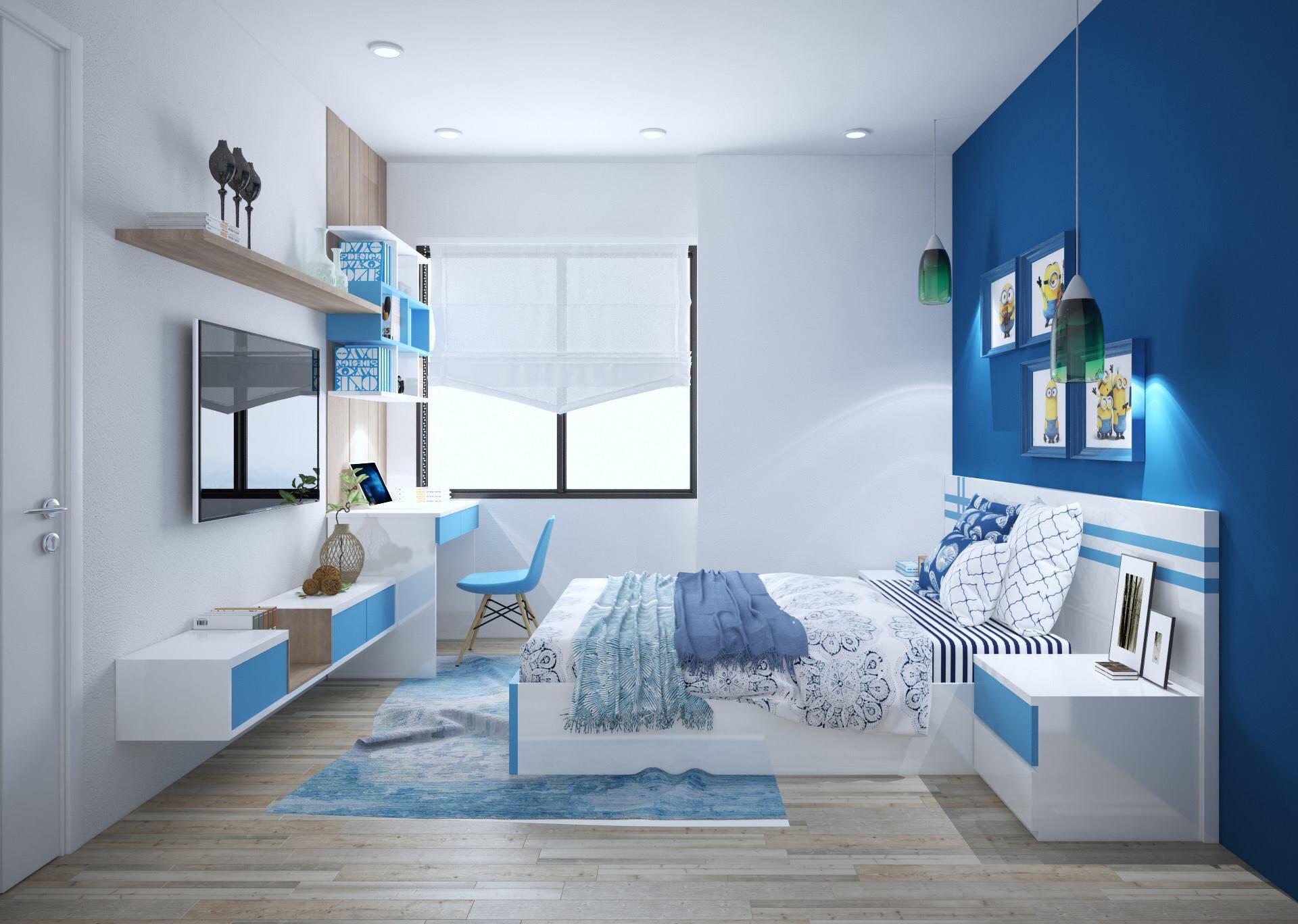 Thiết kế nội thất phòng ngủ cho nhà phố đẹp, gia đình anh Hoàng Anh