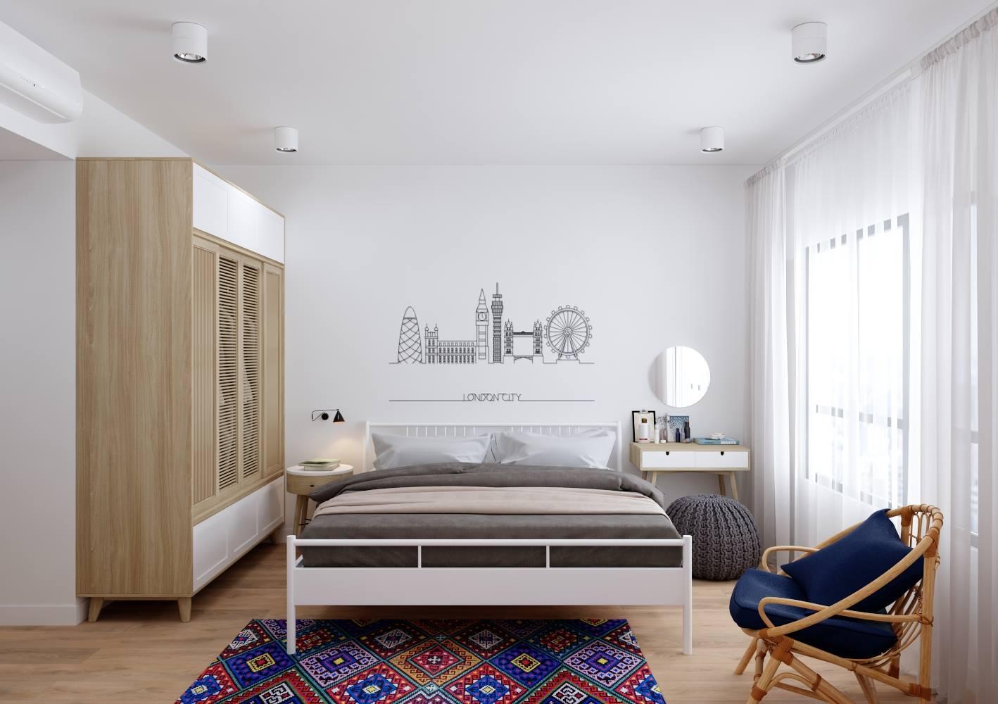 Khám phá thiết kế nội thất phòng ngủ sang trọng dành cho vợ chồng trẻ - gia đình chị Hải