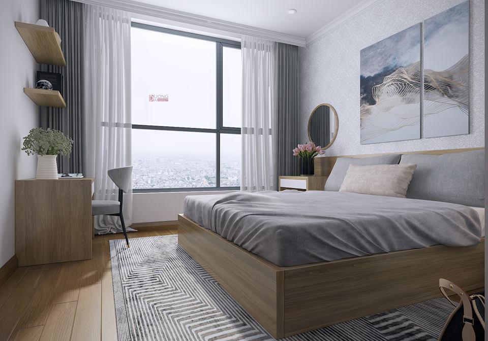 Thiết kế nội thất phòng ngủ căn hộ anh Nam, chung cư Sunshine Palace