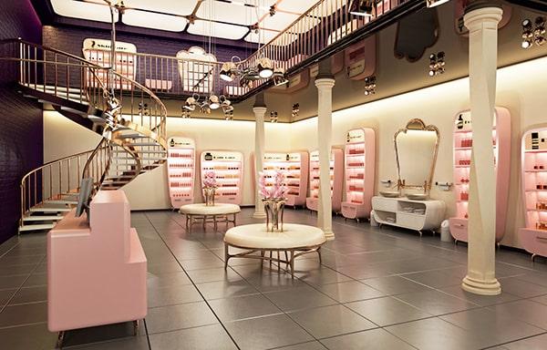 Tổng hợp phong cách thiết kế showroom mỹ phẩm nổi bật năm 2018