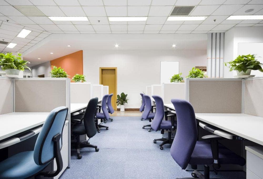 Thiết kế văn phòng đẹp với vách ngăn công nghiệp