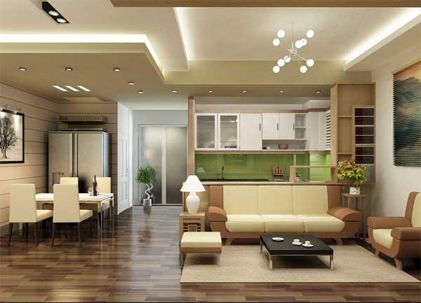 Thiết kế, bài trí nội thất phòng khách nhà ống tinh tế, sang trọng và đẳng cấp
