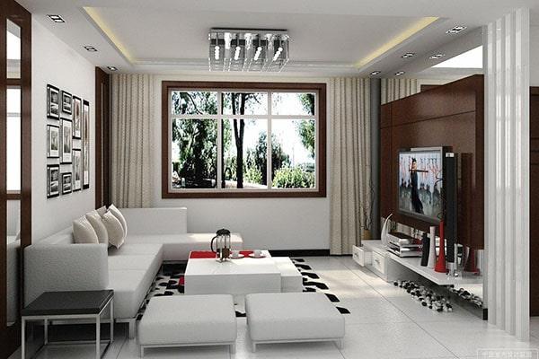 Mẫu thiết kế nội thất phòng khách đẹp cho nhà ống