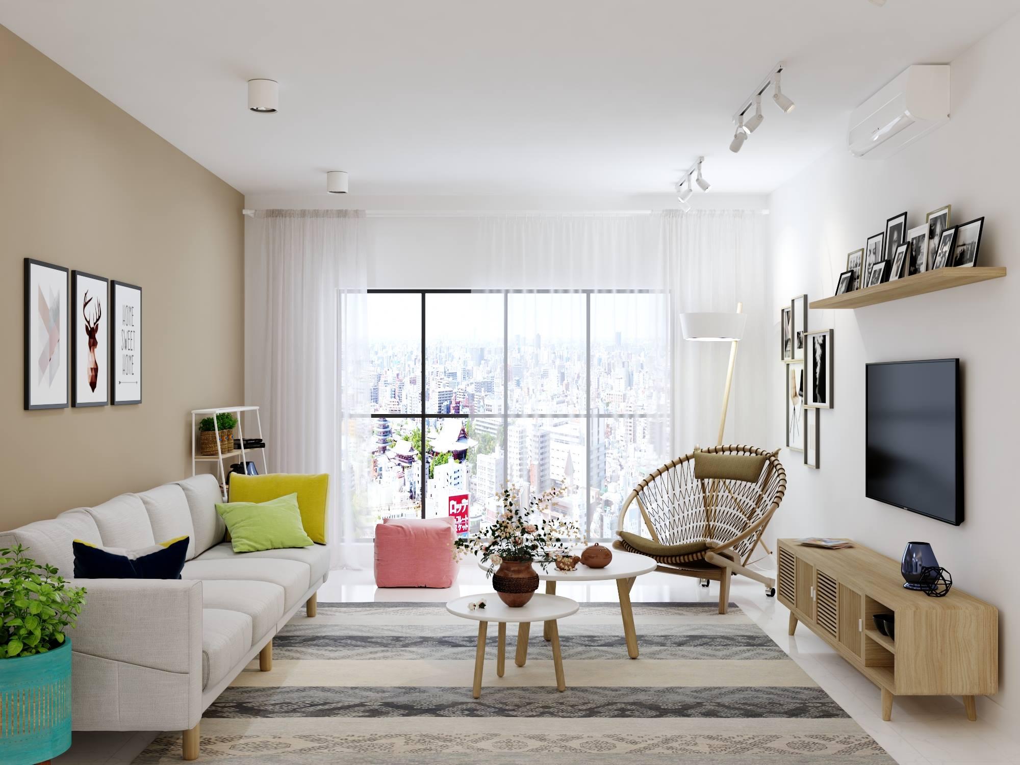 Thiết kế, bài trí phòng khách chung cư sang trọng, tinh tế và đẳng cấp
