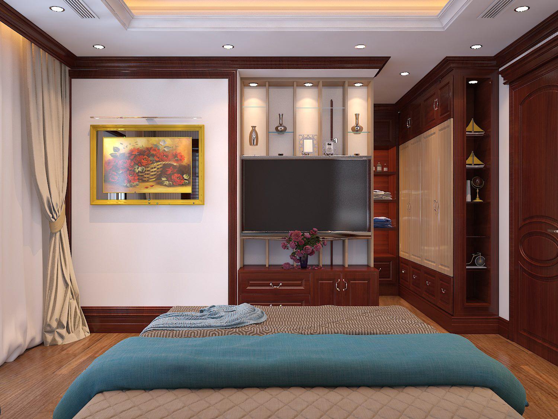 Thiết kế nội thất phòng ngủ hiện đại căn hộ 110m2 - gia đình anh Việt