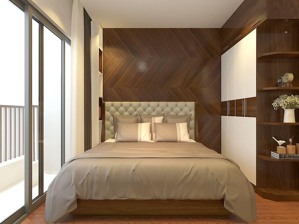 Thiết kế nội thất phòng ngủ chung cư hiện đại Royal City - Gia đình anh Tuấn Anh