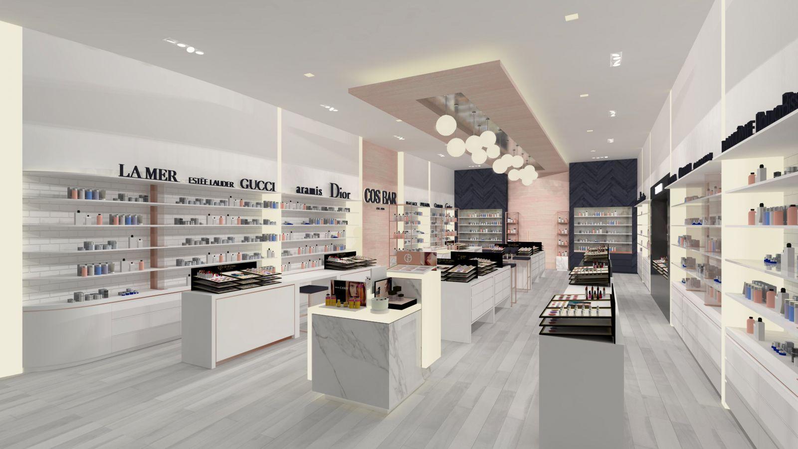 Thiết kế nội thất showroom nước hoa chuyên nghiệp