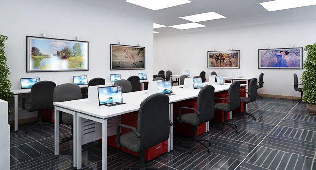 Mẫu thiết kế nội thất văn phòng sang trọng, tiện nghi