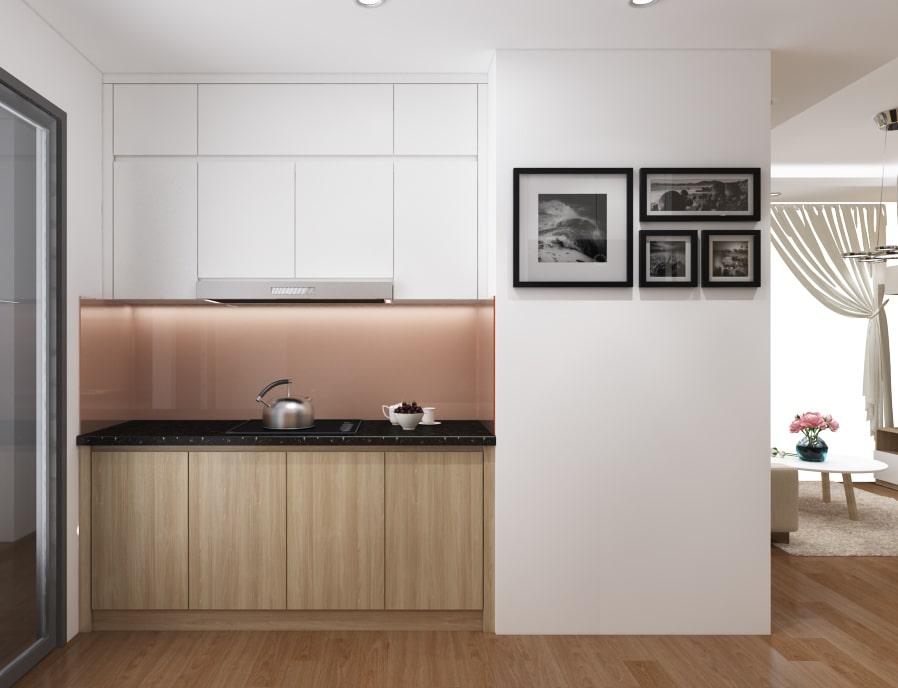 Thiết kế nội thất phòng bếp chung cư trở nên thoáng mát, rộng rãi hơn