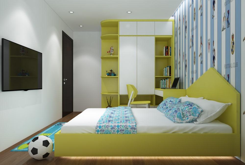 Ấn tượng thiết kế nội thất phòng ngủ đẳng cấp, sang trọng - chung cư Thanh Xuân