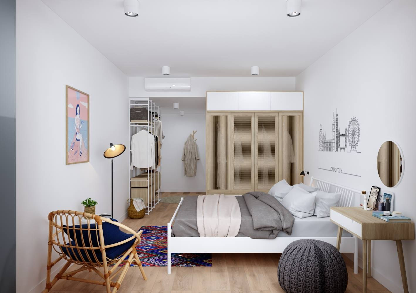 Thiết kế nội thất phòng ngủ sang trọng cho chung cư - gia đình anh Quốc