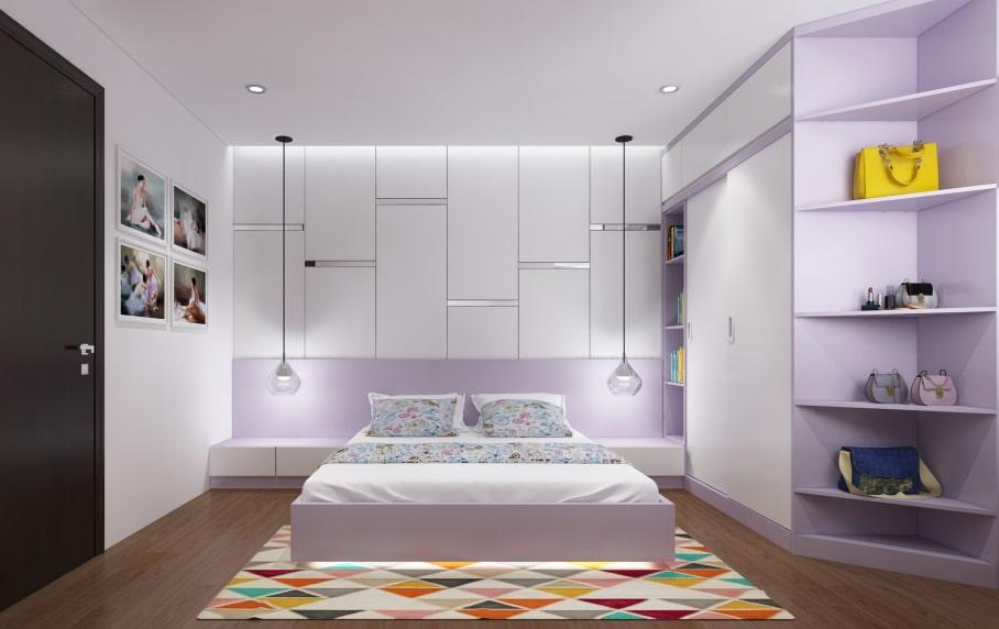 Ấn tượng thiết kế nội thất phòng ngủ hiện đại cho nhà ống, chung cư Hai Bà Trưng