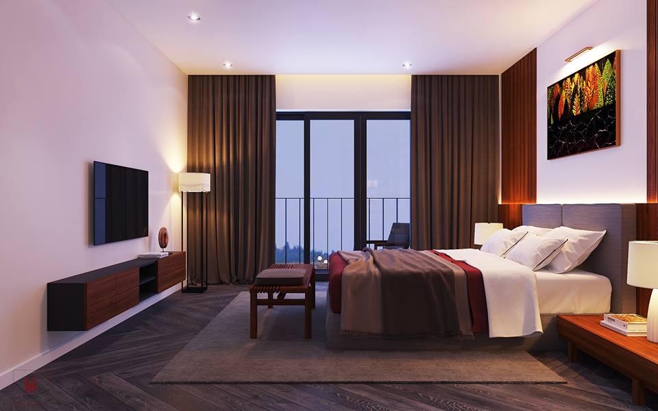 Thiết kế phòng ngủ sang trọng cho chung cư cao cấp - gia đình anh Quyền