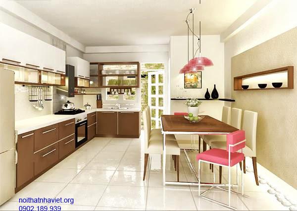 Thiết kế nội thất phòng bếp nhà cô Thương