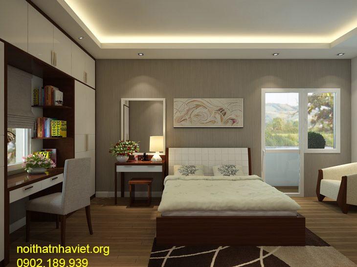 Thiết kế nội thất phòng ngủ chung cư goldmark - gia đình anh Nhật