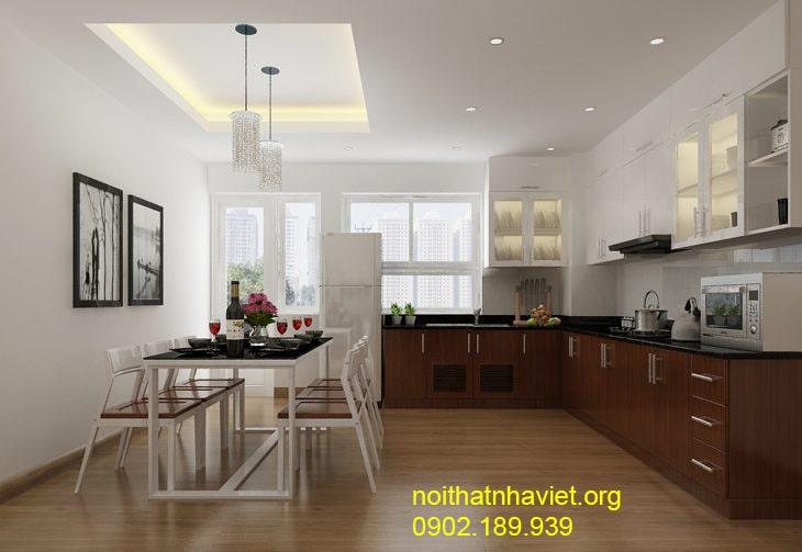 Thiết kế nội thất phòng bếp đẹp, sang trọng cho nhà phố