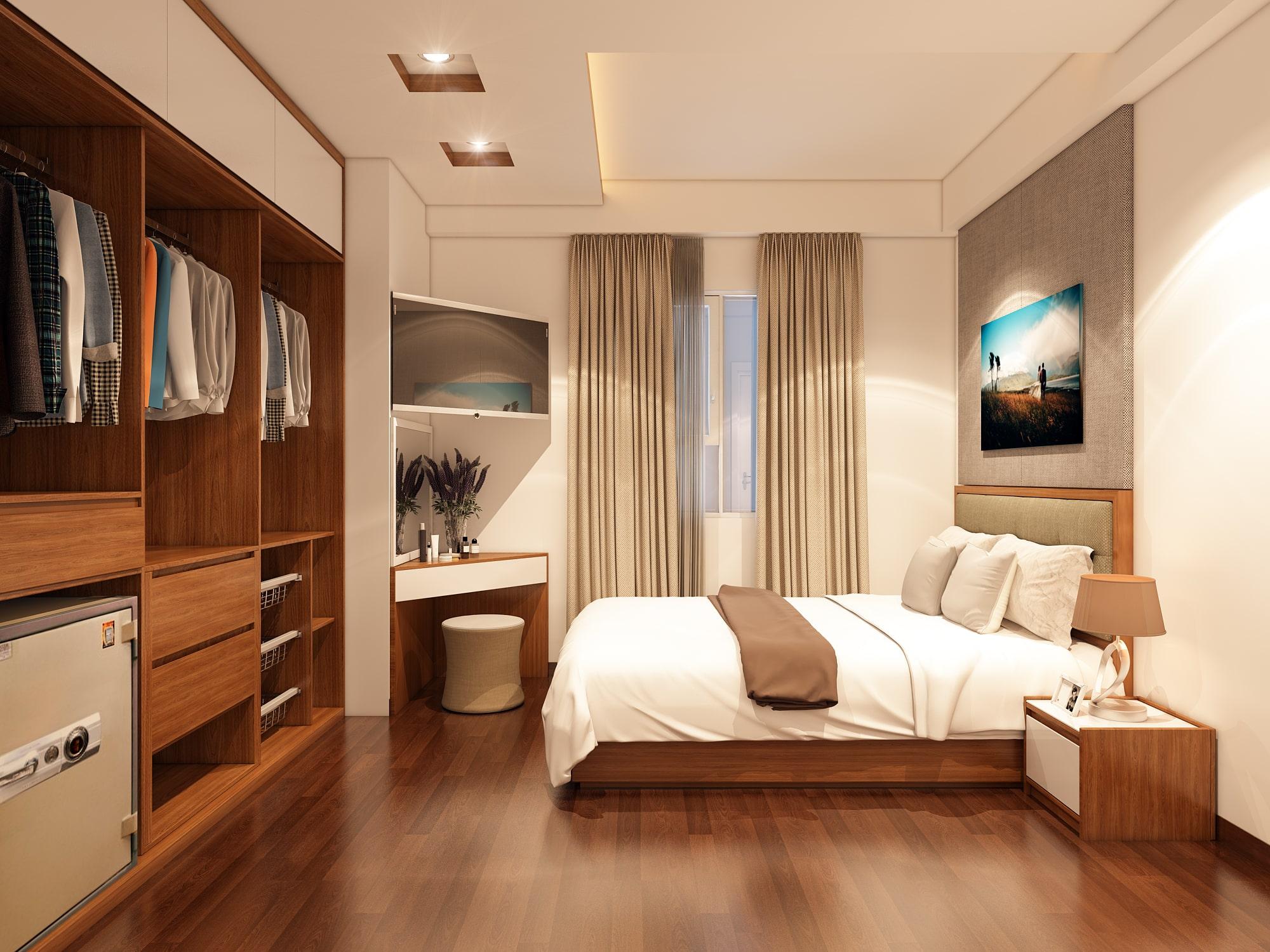 Chiêm ngưỡng thiết kế nội thất phòng ngủ sang trọng - chung cư Hà Đông