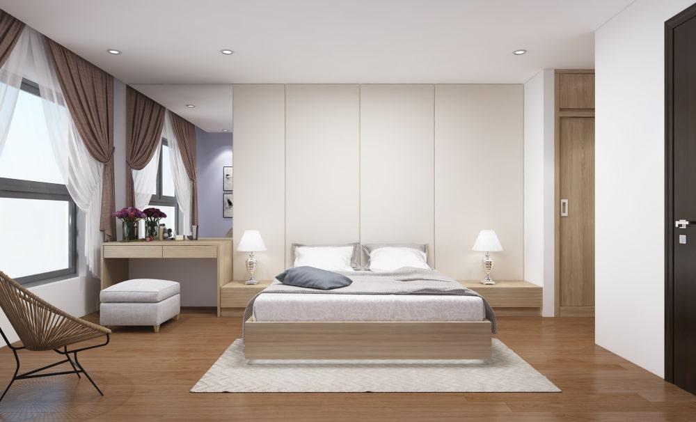 Nội thất phòng ngủ đẹp trong thiết kế nhà ống - gia đình anh Hùng