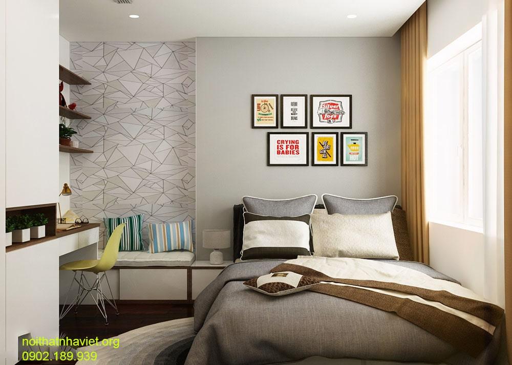 Khám phá nội thất phòng ngủ hiện đại chung cư Dịch vọng - gia đình chị Thùy